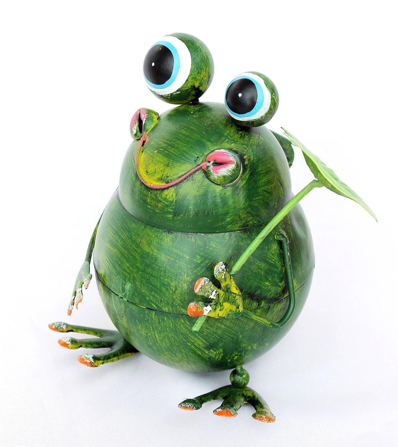 DanDiBo Table bin Frog BL-79 made from metal 20 cm Bin