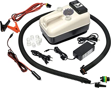 Amazon.com: Bravo SUP Bomba de aire eléctrica, máx. 21 psi ...