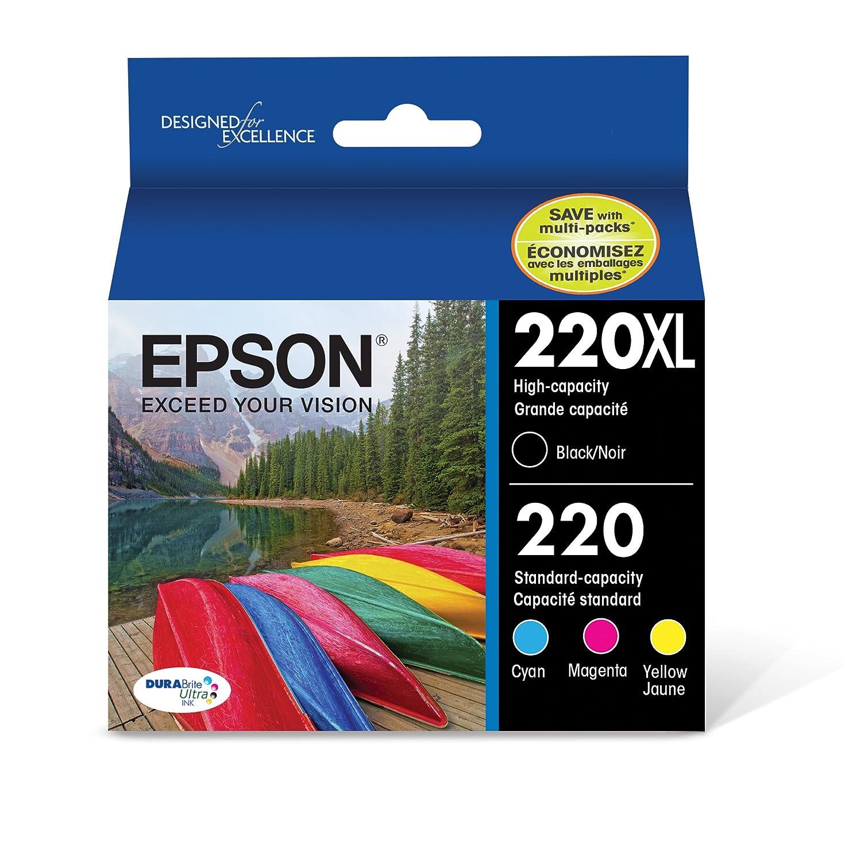 Epson 220XL Black & 220 Color C/M/Y/K 4-Pack
