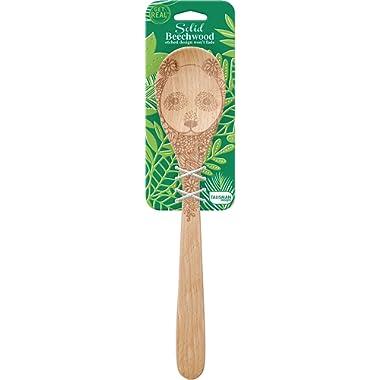 Talisman Designs Beechwood Mixing Spoon Wildlife Design - Panda, Laser Etched Art, 12-Inches Long