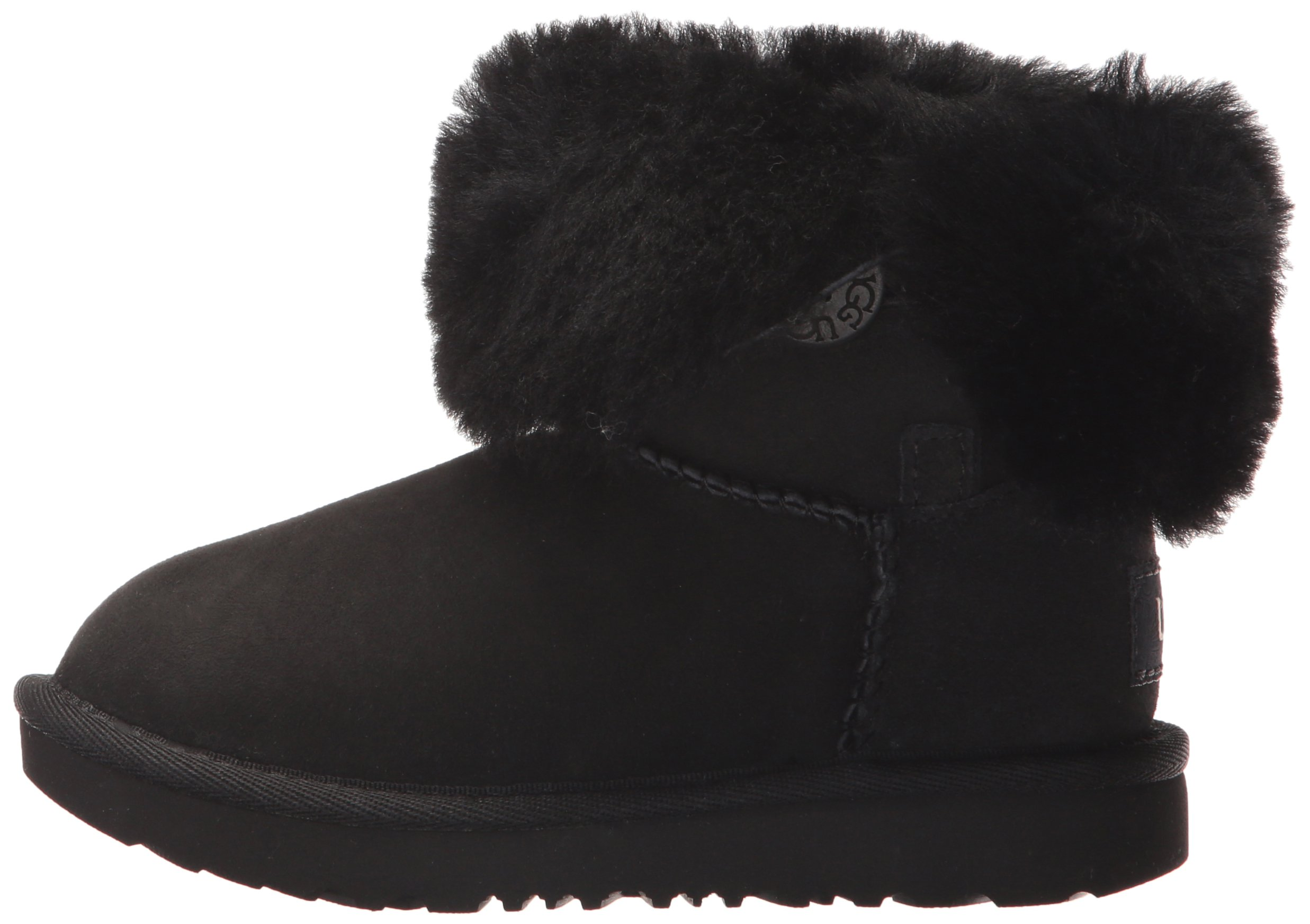 UGG Girls T Bailey Button II Fashion Boot, Black, 12 M US Little Kid