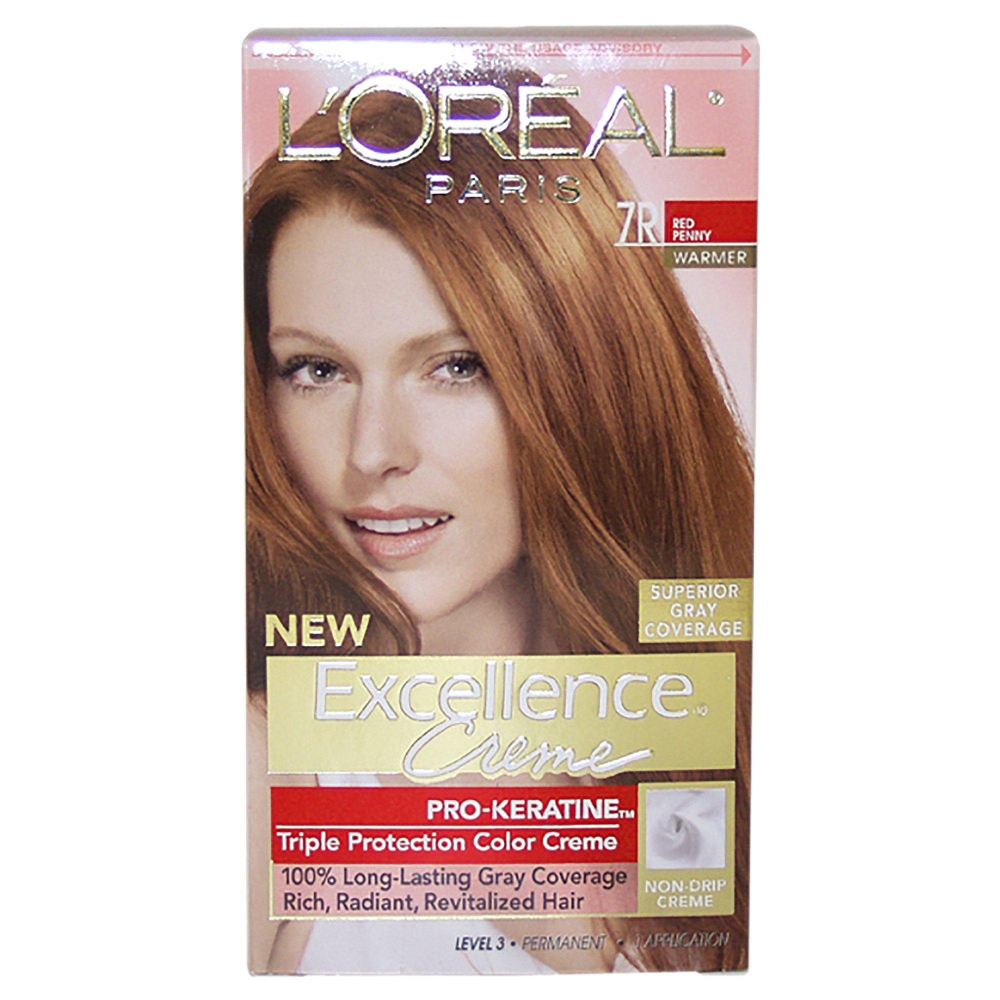 Amazon loral paris excellence crme permanent hair color loreal paris excellence creme triple protection color 7r red penny 1ea geenschuldenfo Images
