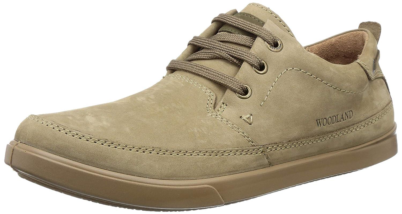 Khaki Leather Casual Shoes