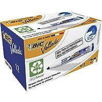 BIC Velleda 1701 Whiteboard Markers Medium Bullet Tip - Blue, Box of 12