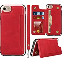Frolan iPhone 7/8/SE 2020 Wallet Case, Premium PU Leather Kickstand Card Holder Drop Protection Shockproof Cover for…