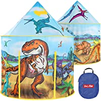 LOL-FUN Tent for Kids Indoor Boys 3 4 Years Old, Kids Tent for Boys Dinosaurs Toy, Pop Up Play Tent Kids Ages 3-5