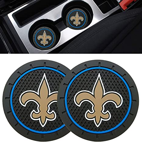 Ysiueng 4 Pack Anti Slip Cup Mat 2.75 inch for Miami Dolphins Car Interior Accessories Silicone Car Coaster for All Vehicles
