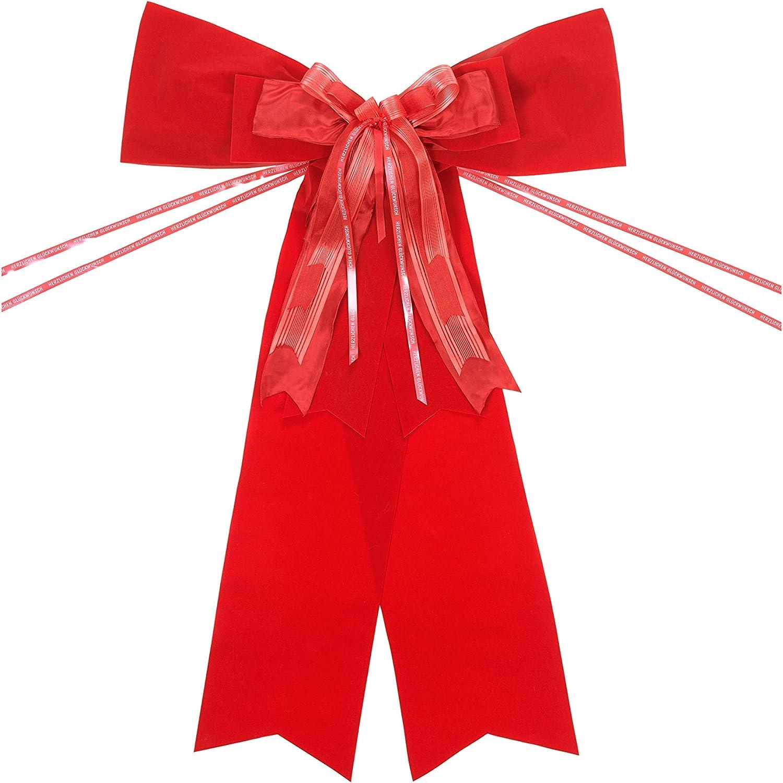 Lazo rojo resistente a la intemperie 60 x 80 cm elegante y llamativo ideal como regalo de cumplea/ños grande