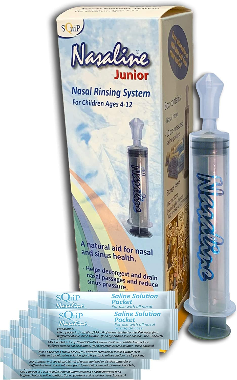 Squip, Junior nasal kit de sistema de enjuague, 1 kit - Nasaline ...