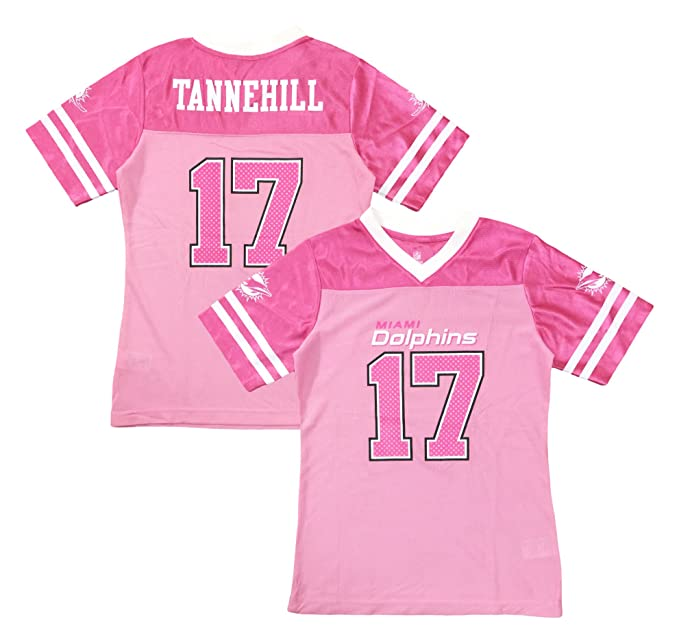 the latest a8fe8 7e29a Outerstuff Ryan Tannehill Miami Dolphins #17 Pink Dazzle Girls Youth Jersey