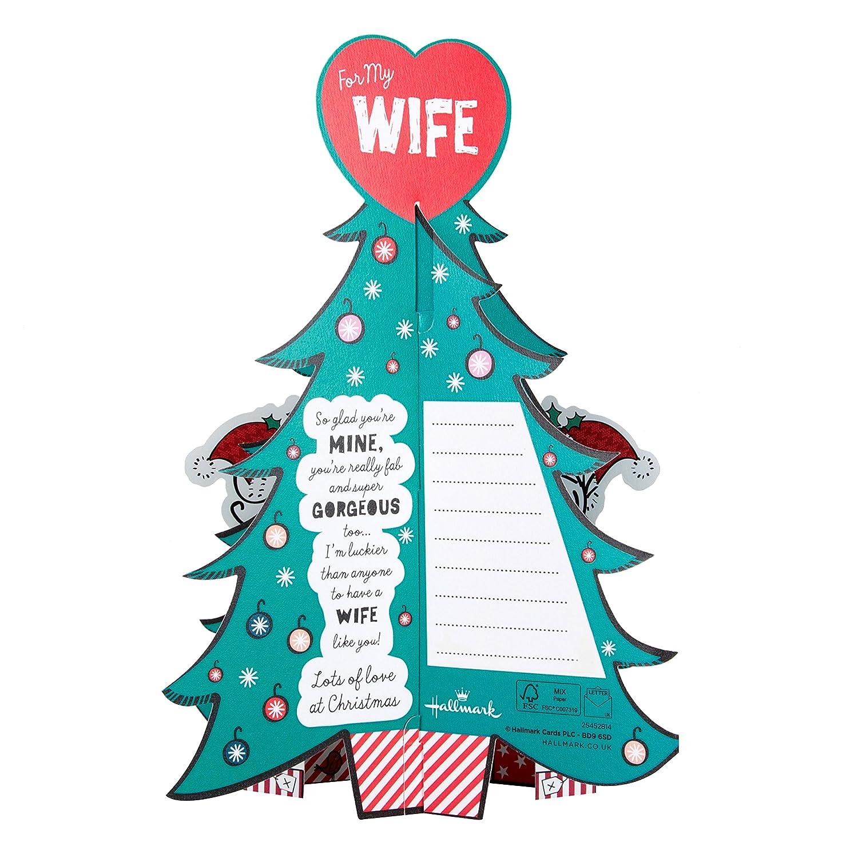 Hallmark Weihnachts Karte für Ehefrau mittelgroß Love You Ich