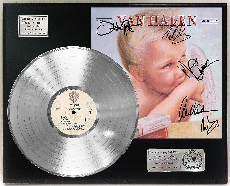 Van Halen 1984 Platinum Lp Ltd Signature Display C3