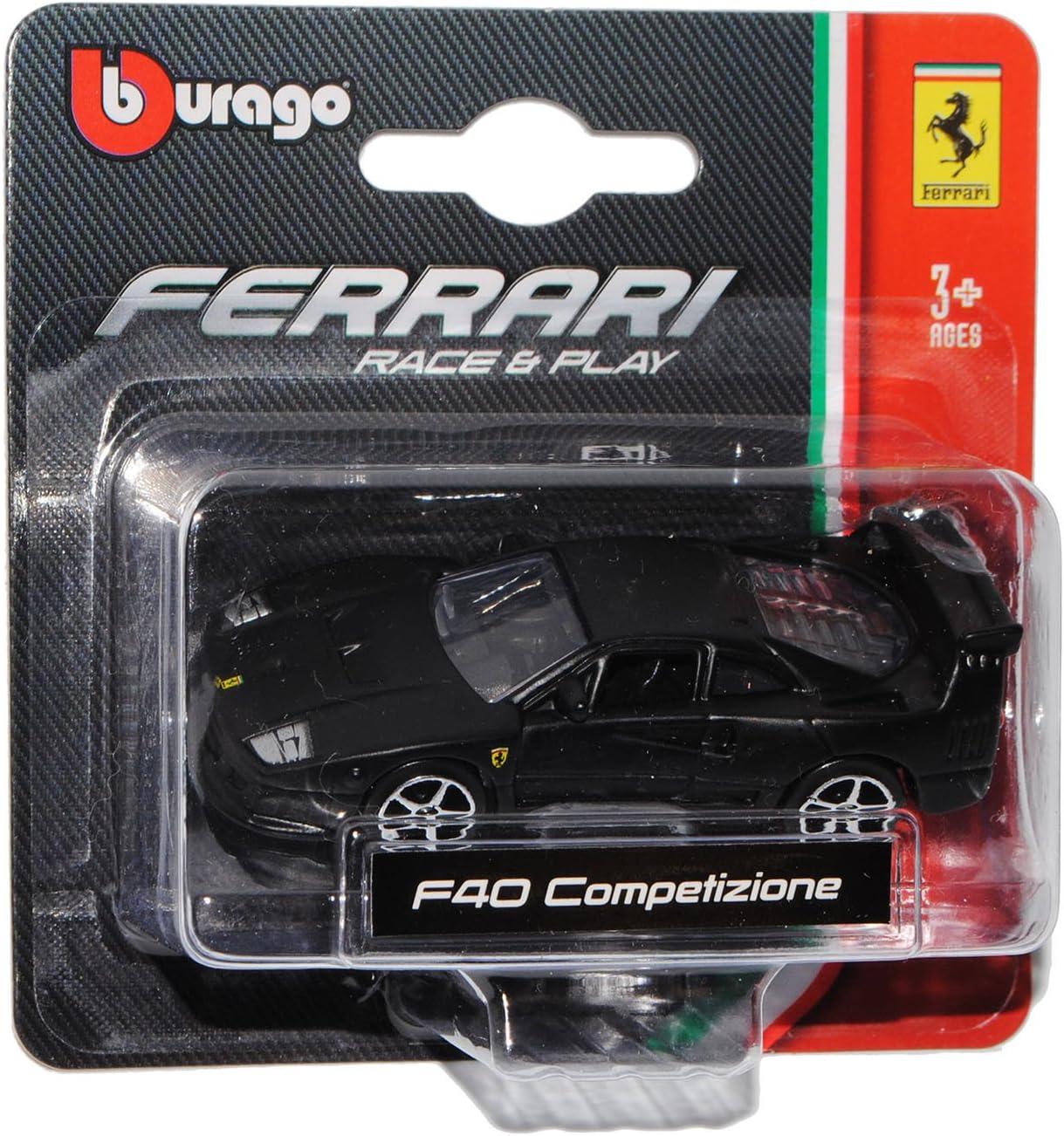 Bburago Ferrari F40 Coupe Matt Schwarz 1987-1992 1//64 Modell Auto mit individiuellem Wunschkennzeichen