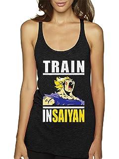 New Way 292 - Womens Tank-Top Train Insaiyan Gym Workout Goku DBZ Dragon Ball