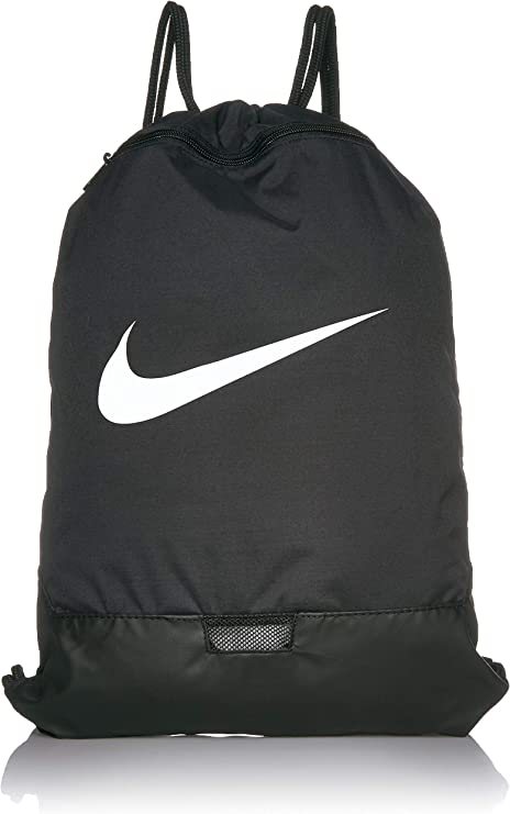 Desobediencia Vaciar la basura Trueno  Nike Unisex's Brasilia - 9.0 Gym Sack, Black/Black/White, One size:  Amazon.co.uk: Sports & Outdoors