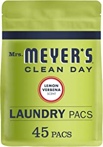 Mrs. Meyer's Laundry Pacs, Lemon Verbena, 45 CT