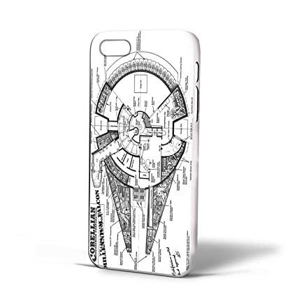 Star Wars Corellian Faucon Millenium Schematics Pour Iphone 6 Iphone