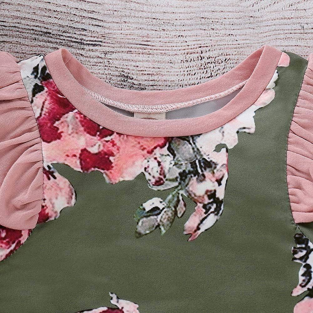 DAY8 Combinaison B/éb/é Fille Hiver Pyjama B/éb/é Fille Naissance 0-24 Mois Automne Grenouill/ère V/êtements Manteau Fille Manche Longue Body Barboteuse Combipilote Jumpsuit Fleur