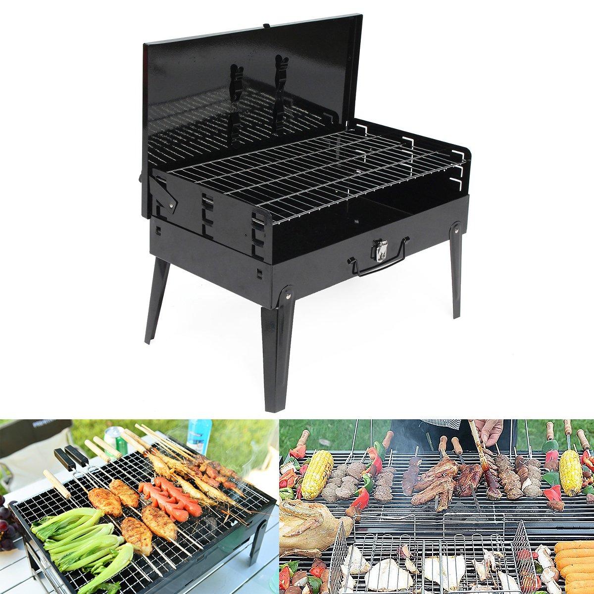 LaDicha 43X 26,5 X21 Cm Outdoor Faltbar Garten Kohlegrill Patio Portable Große Grill