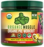USDA Certified Organic Pre-Workout Supplement - Natural Pre Workout & Organic Energy Drink- Vegan, Paleo, Gluten Free, Non-GMO – Pineapple Coconut Flavor - 160g