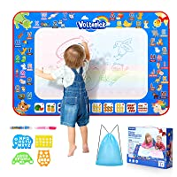 Voltenick Aqua Magic Mat - Kids Painting Writing Doodle Board Toy - Color Doodle Drawing Mat Bring Magic Pens Educational Toys for Age 3 4 5 6 Year Old Girls Boys Toddler Gift