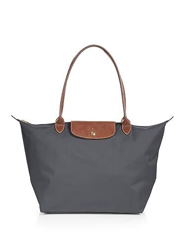 Longchamp Le Pliage Large Shoulder Tote Bag Gunmetal: Handbags ...