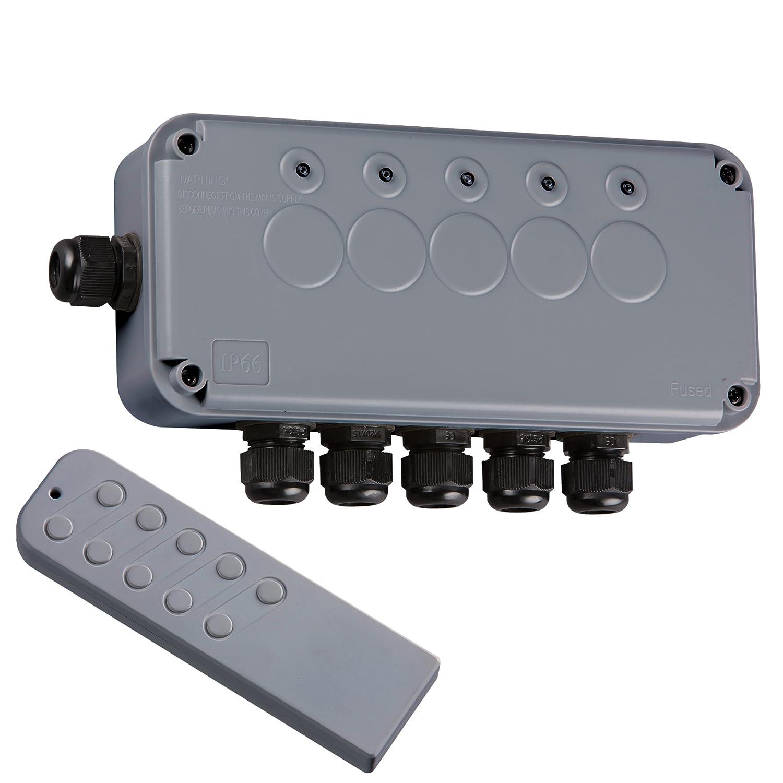 Outdoor Light Remote Control Switch Knightsbridge ipav665g remote switch box amazon diy tools workwithnaturefo