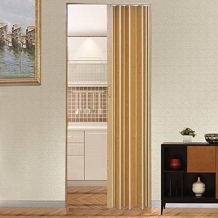 Panana-K Puerta de acordeón plegable con cierre magnético de PVC interior puertas correderas de plástico para interior de habitación divisor grosor 6 mm hogar, amarillo: Amazon.es: Bricolaje y herramientas