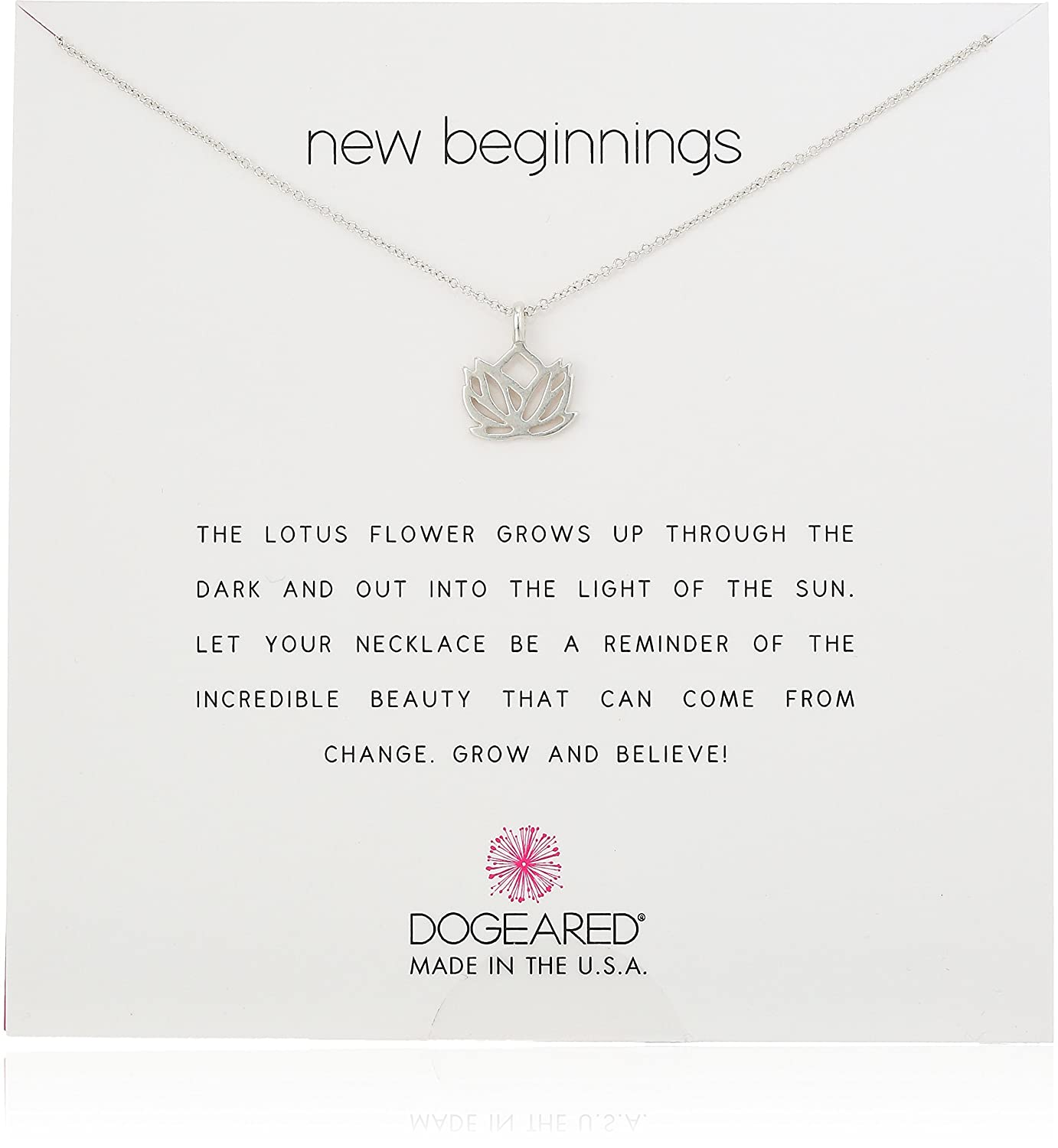 Amazon Dogeared New Beginnings Lotus Sterling Silver Necklace