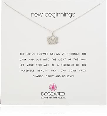 Amazoncom Dogeared New Beginnings Lotus Sterling Silver Necklace