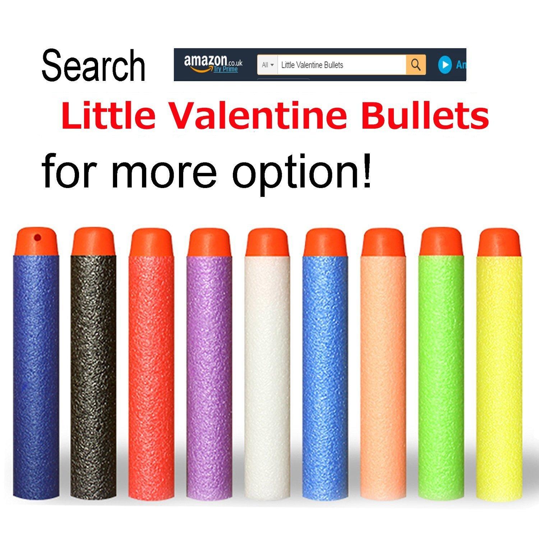 Little Valentine Refill Darts 100PCS Bullets for Nerf N-Strike Elite Zombie Strike Rebelle Green