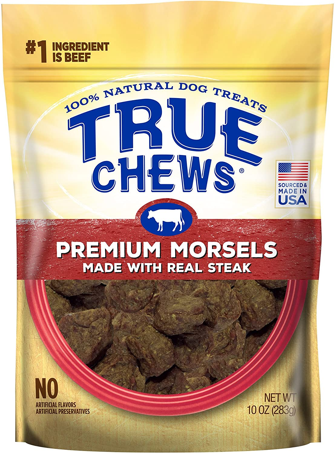 True Chews Premium Morsels Made with Real Steak Dog Treats