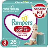 Pampers Diapers Size 3 - Cruisers 360˚ Fit Disposable Baby Diapers with Stretchy Waistband, 26 Count, Jumbo Pack (Packaging M
