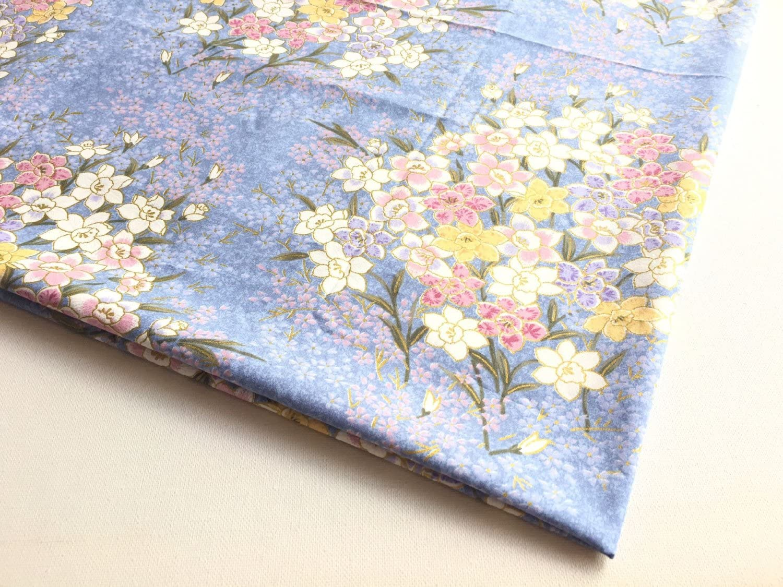 Amazon Com Japanese Kimono Pattern Blue River Of Sweet Flower In
