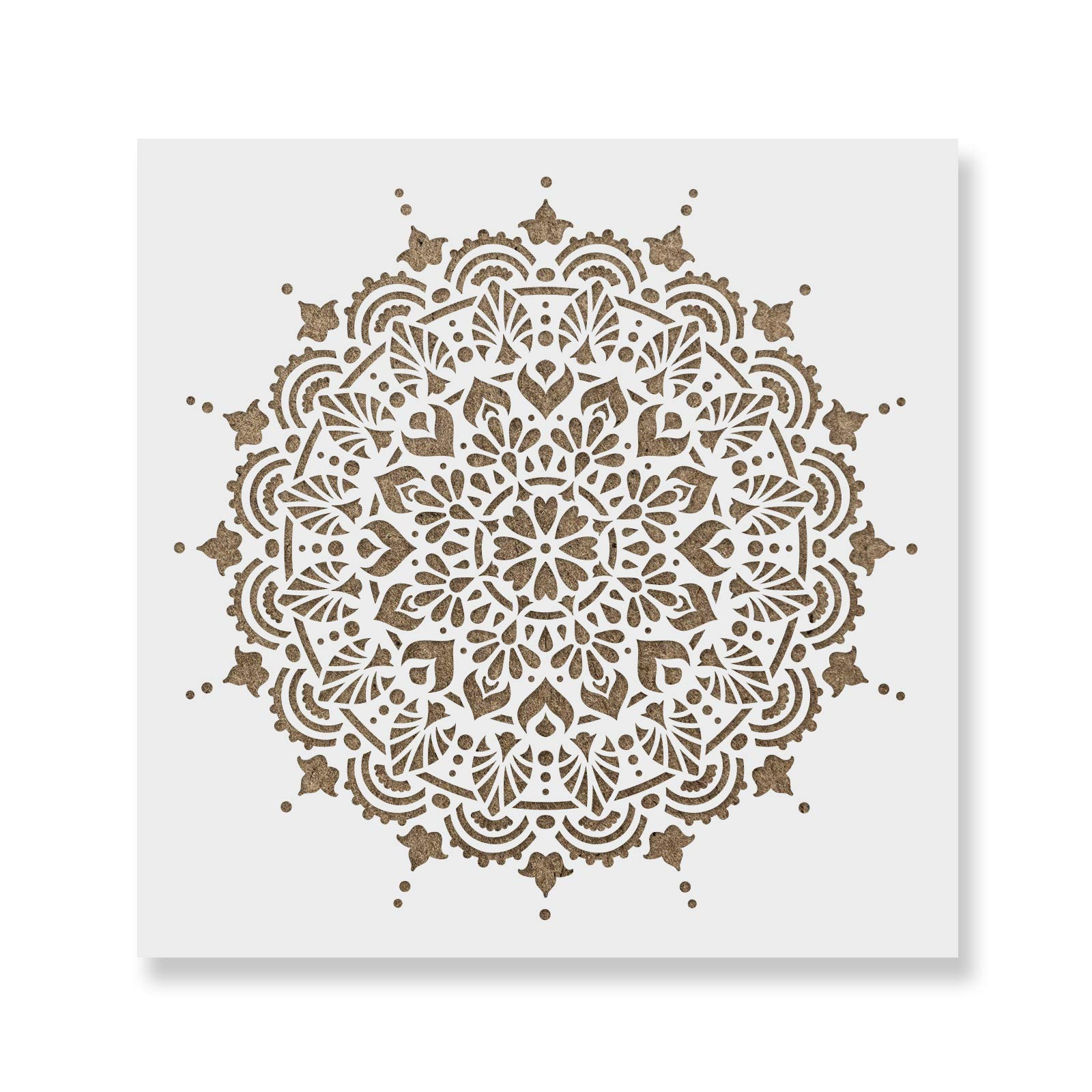Paradise Mandala Stencil Template Walls Crafts - Reusable Stencils Painting in Small & Large Sizes