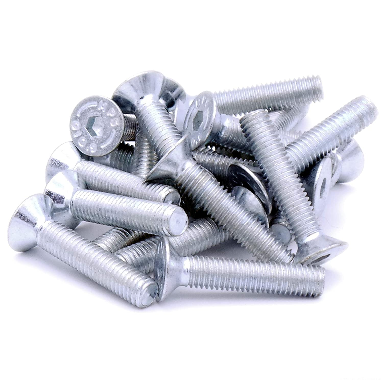 M8 x 35 mm (8 mm) hexagonal Tornillo avellanado tornillos –  acero (Pack de 20) Singularity Supplies