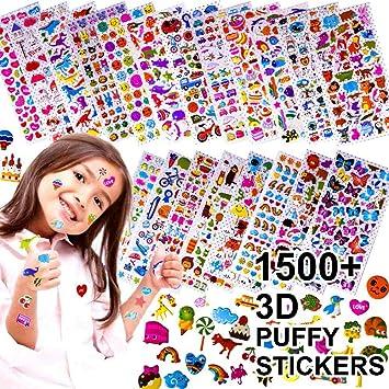 Amazon.com: Pegatinas para niños de 1500 +, 20 hojas ...
