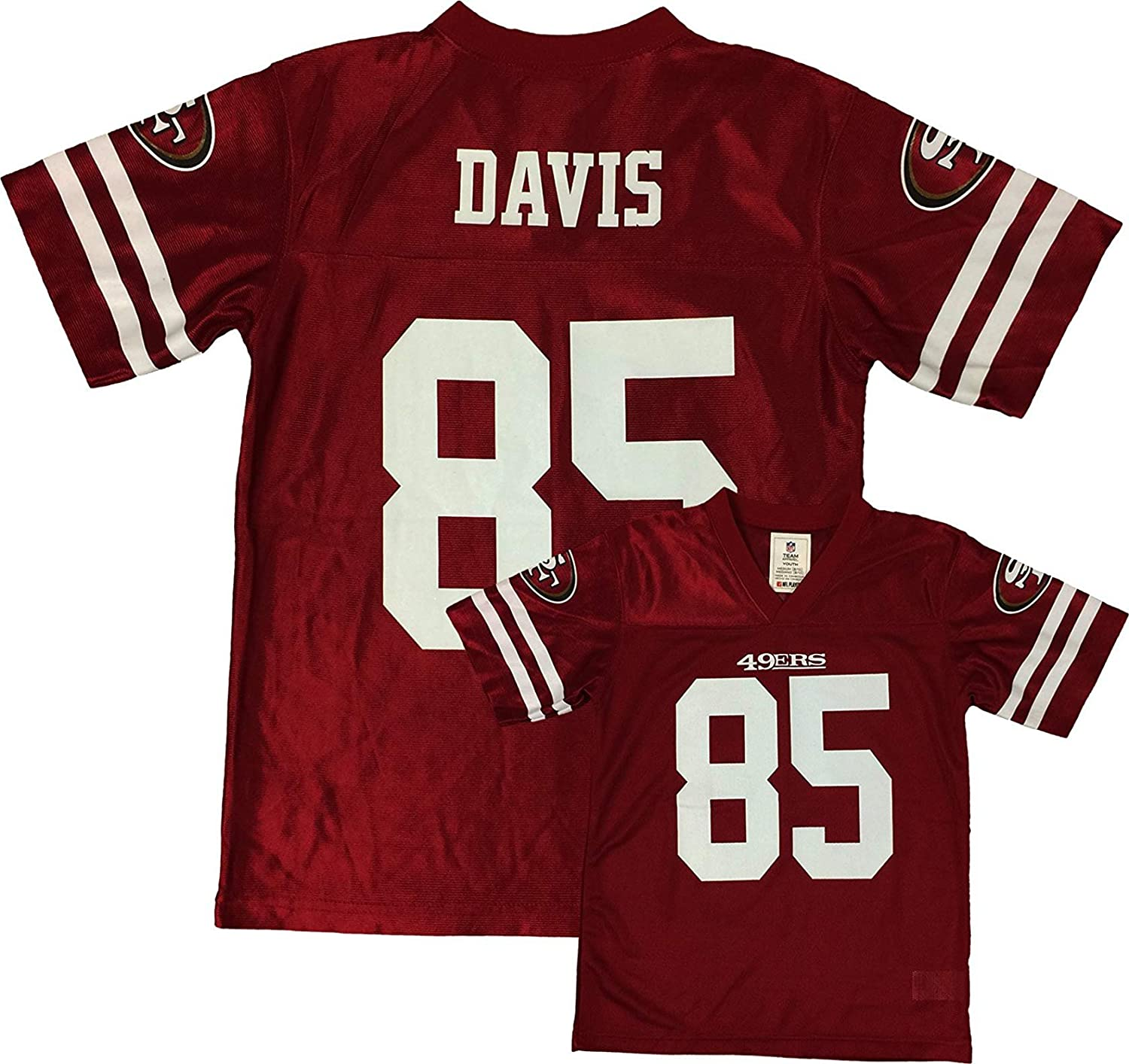 new product 923cb 18b94 Vernon Davis San Francisco 49ers Red Home Player Jersey Youth