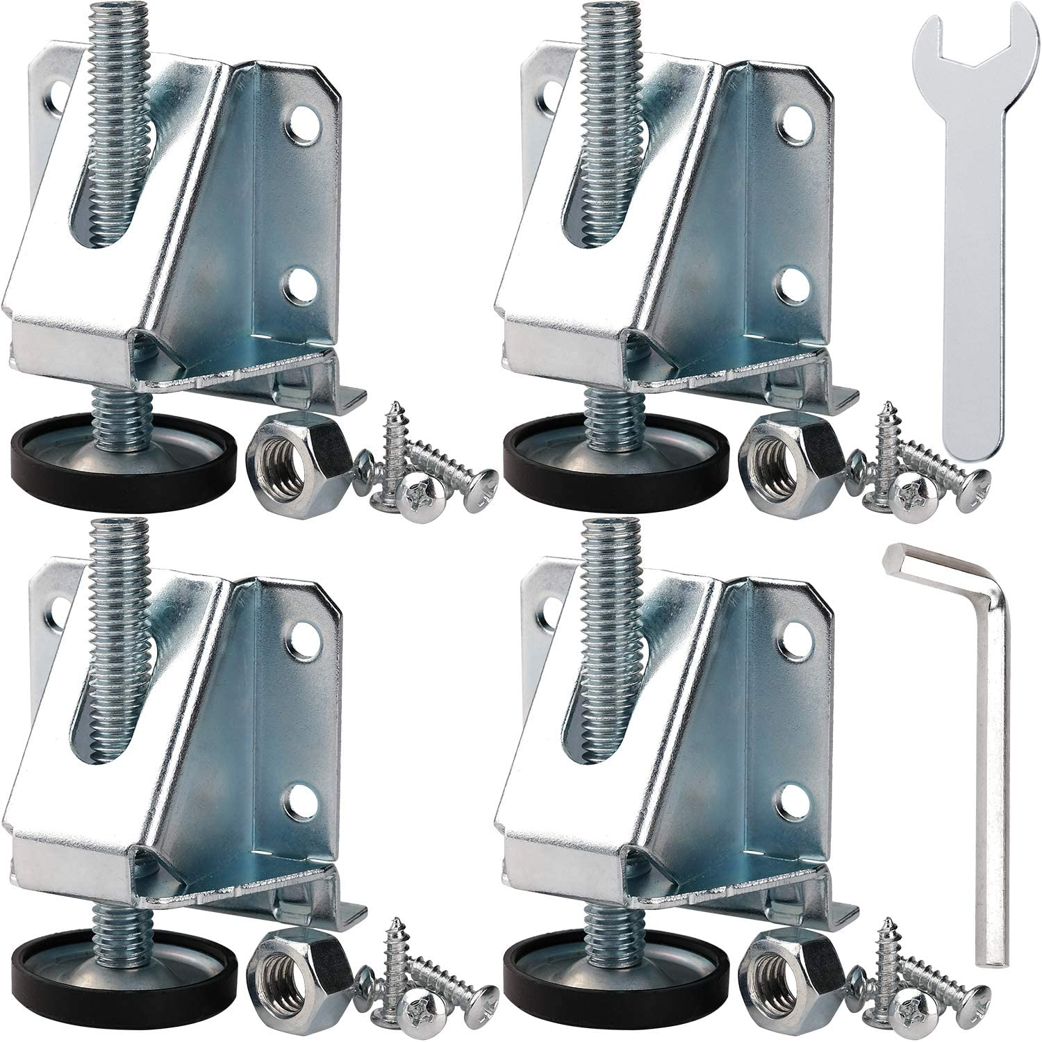 Anwenk Leveling Feet Heavy Duty Furniture Levelers Adjustable Table Leg Leveler w/Lock Nuts for Furniture,Table, Cabinets, Workbench,Shelving Units and More