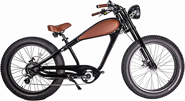 CIVI BIKES Vintage Bicicleta Eléctrica Fat Tire Sport Bicicleta ...