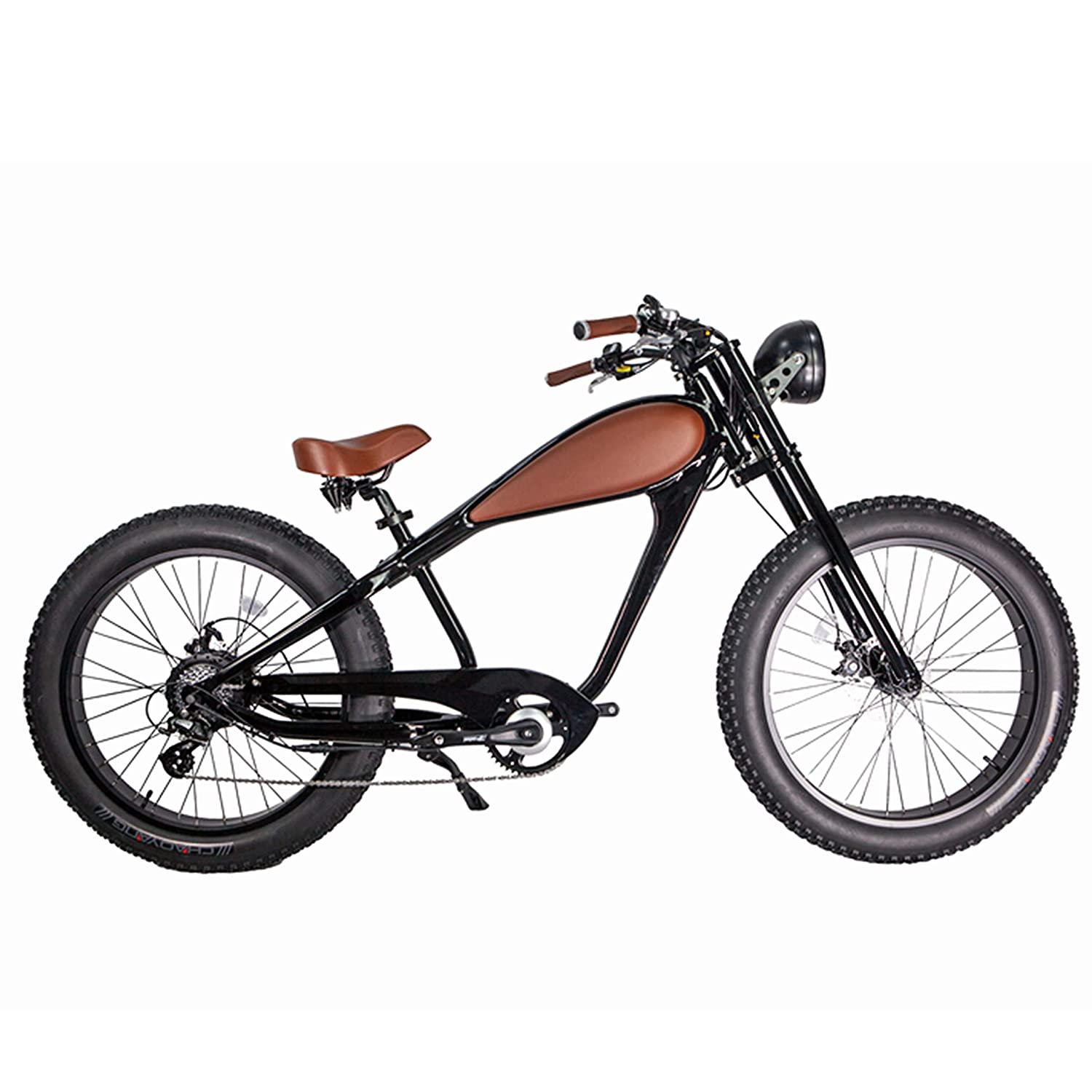 Electric Sports Bike >> Civi Bikes Vintage Electric Bike Fat Tire Sport Bicycle 750w Cafe Racer 7 Speed Gear 48v Battery With Max Speed To 28 Mph