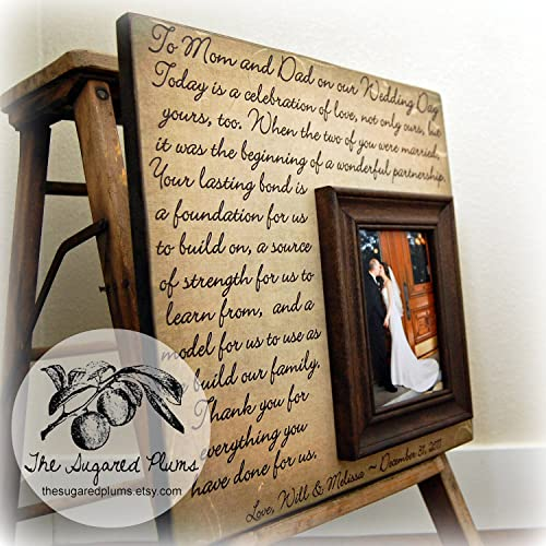 Amazon.com: Parents Wedding Gift, Parents of the Groom, Father of ...