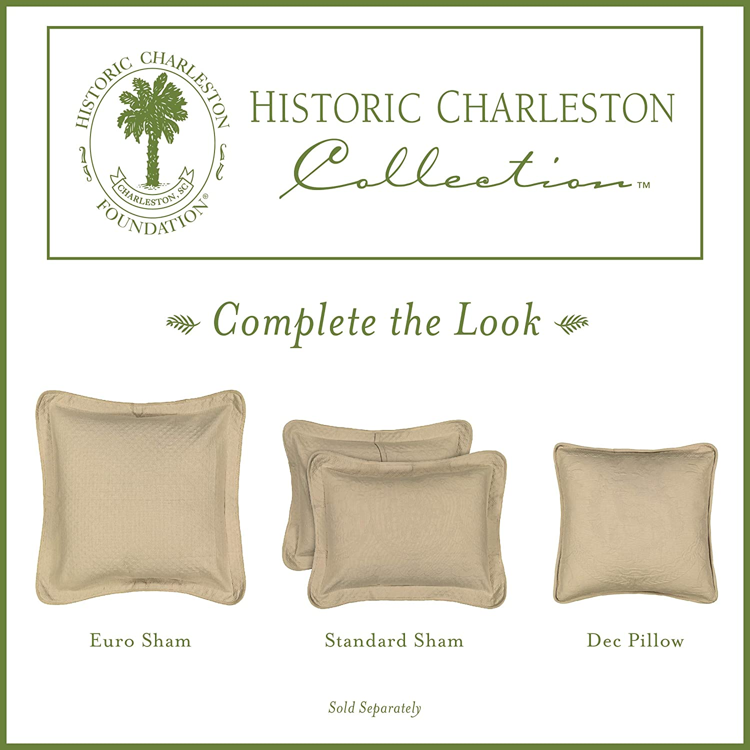 Historic Charleston 13995020X020WHI King Charles Matelasse 20-Inch by 20-Inch Decorative Pillow White Ellery Homestyles