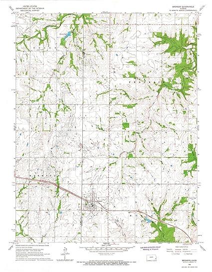 Amazon Com Kansas Maps 1966 Bronson Ks Usgs Historical
