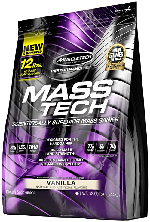Muscletech Masstech - 12lbs (Vanilla) Sports Supplements at amazon