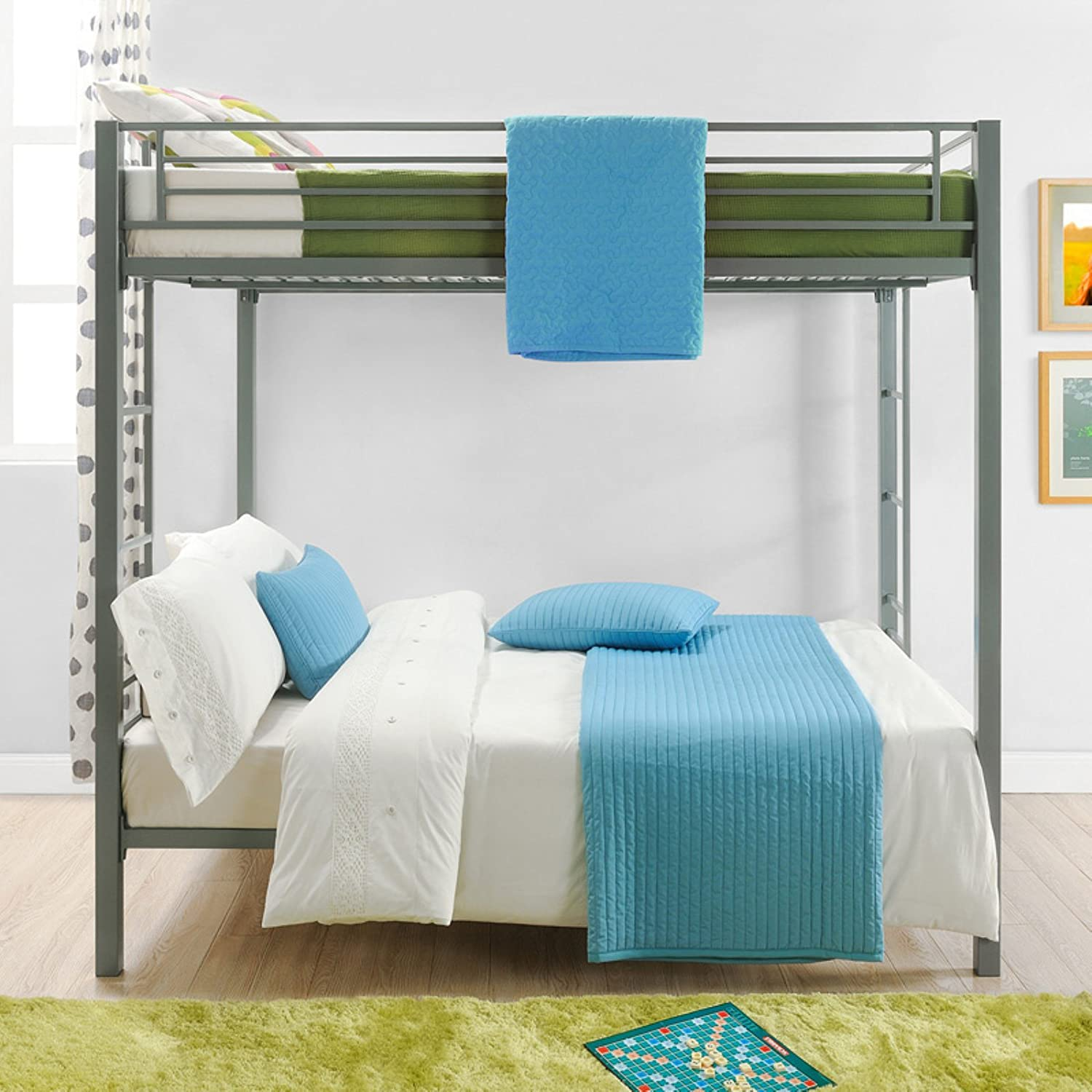 colors bedroom over full bed of paint metal interior bunk