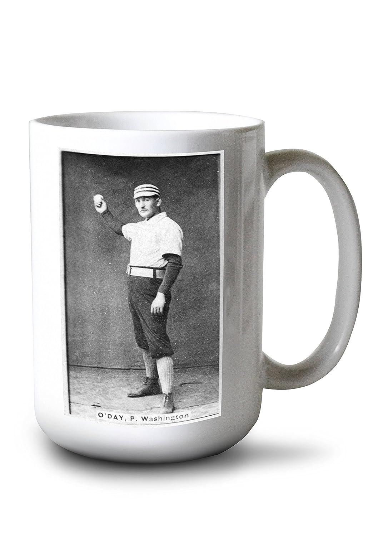 ワシントンStatesmen – Hank O 'day – 野球カード 15oz Mug LANT-3P-15OZ-WHT-23275 15oz Mug  B077RSPK44