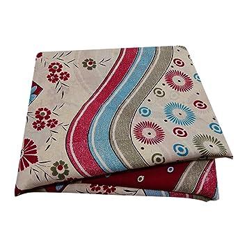 Indian Vintage Printed Sari Off White Malai Silk DIY Used Fabric Sewing Craft Home Decor Women