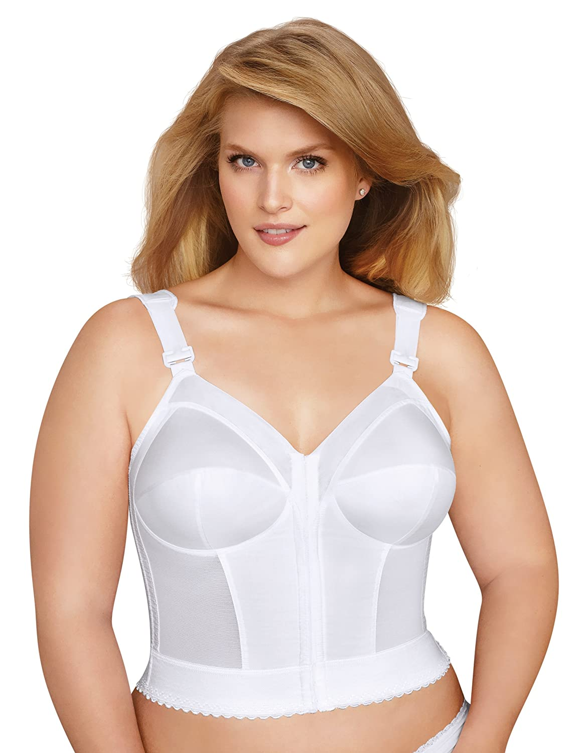 EXQUISITE FORM Women's Front Close Longline Bra #5107530 Exquiste Form Women' s IA 7507530
