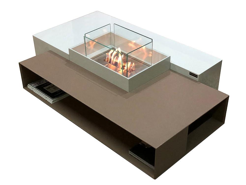 Mesa auxiliar moderna de bioetanol / biochimenea / chimenea de ...